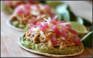 hatch chili chicken tostada border