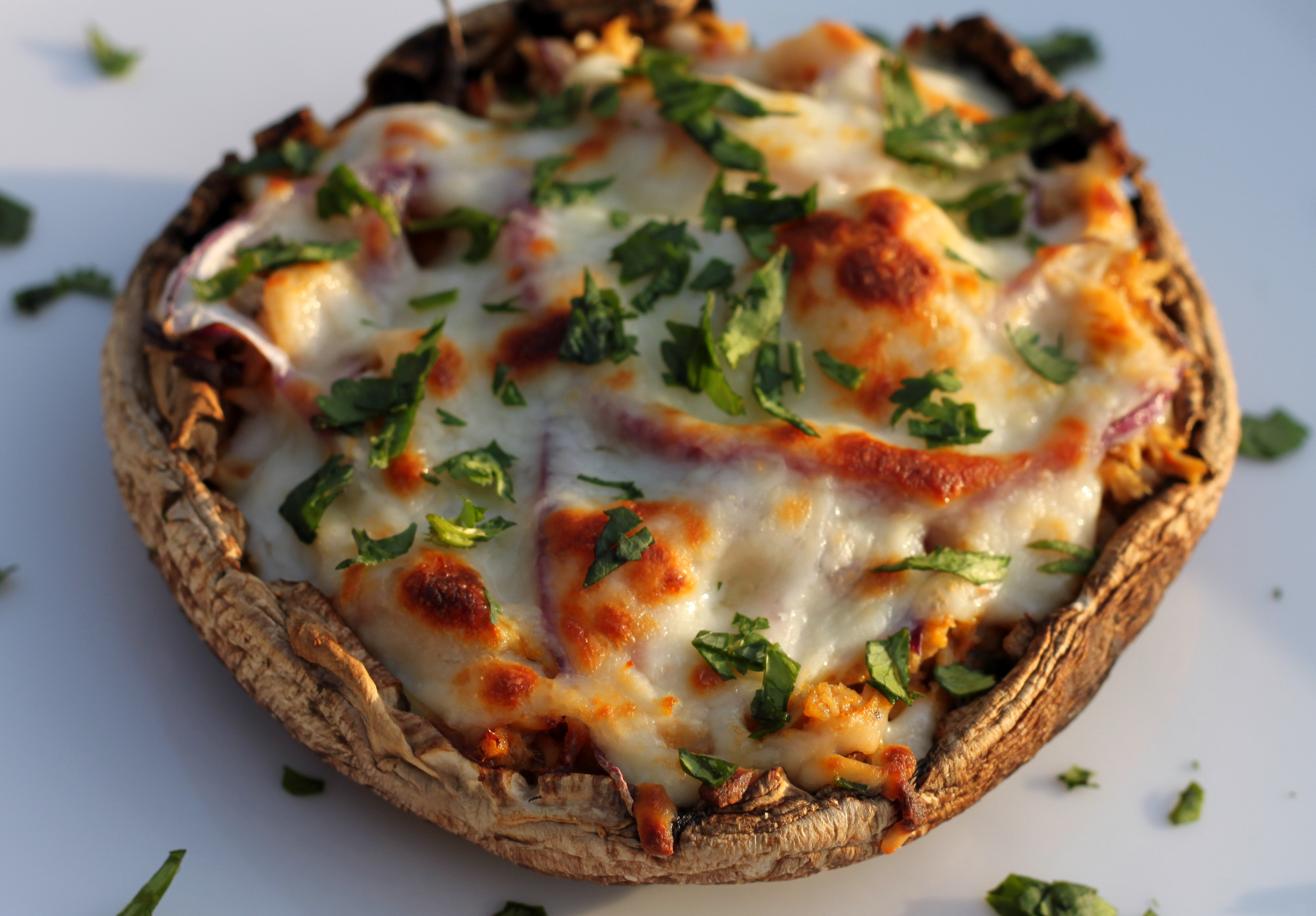 Portobello Bbq Chicken Pizza Decadently Fit